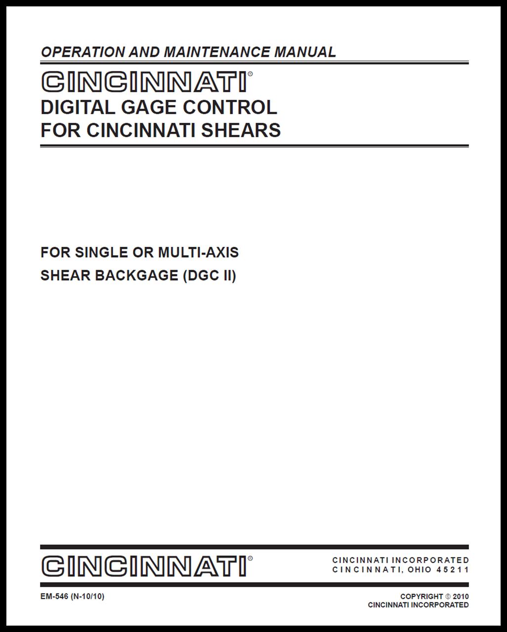 EM-546_(N-10-10) Digital Gage Control II for Shears