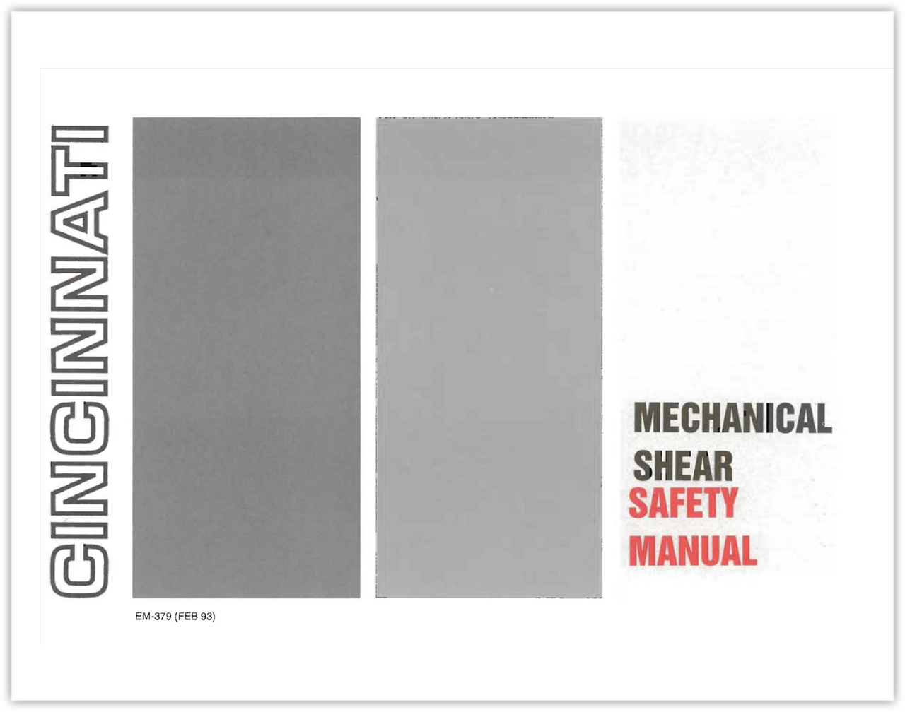 EM-379 Mechanical Shear Safety Manual