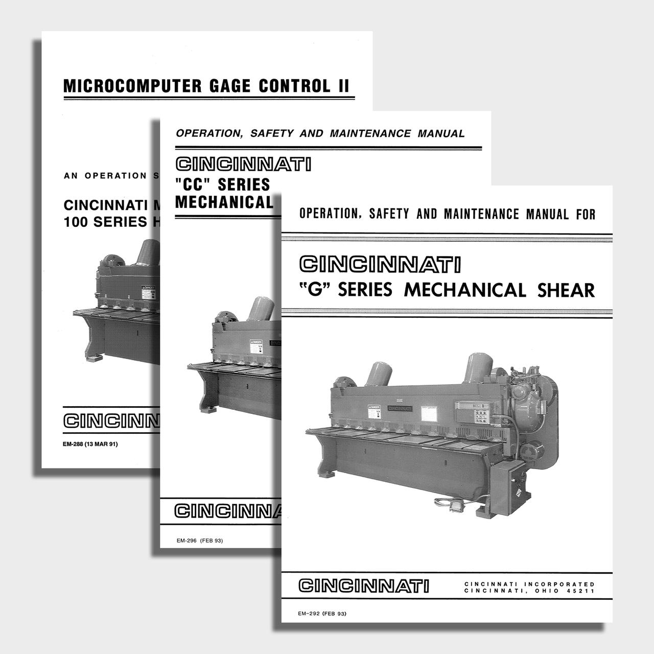 G Series Mechanical CNC Shear Manual Bundle