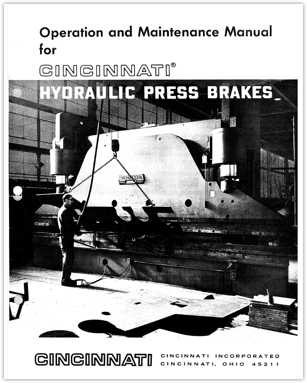 FORM 70012 - HYDRAULIC PRESS BRAKES - Operation and Maintenance Manual