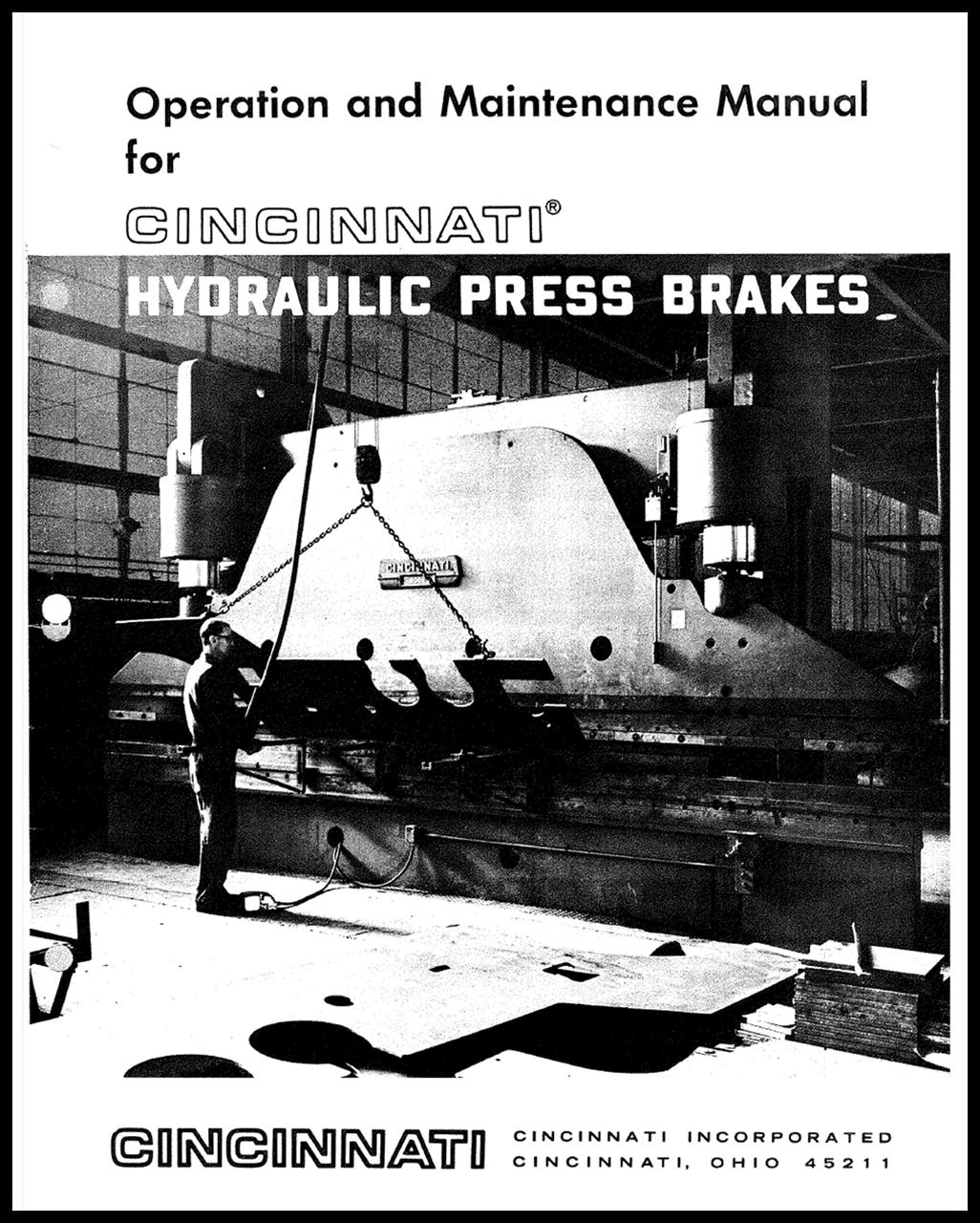 FORM 70012 - HYDRAULIC PRESS BRAKES - Operation and Maintenance Manual