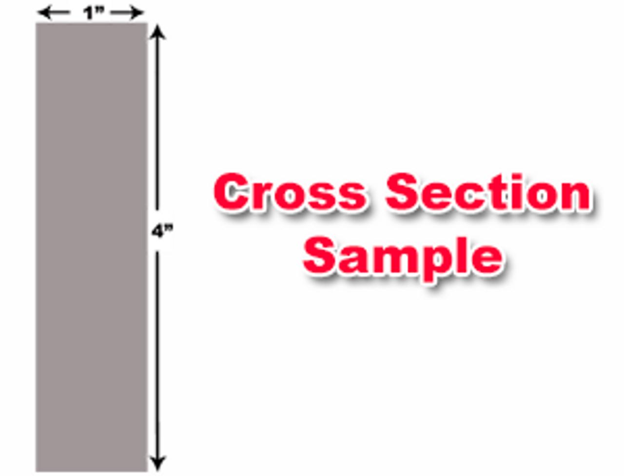 "Cincinnati Shear Knives - 124"" Length, 4"" x 1"" Cross Section (239216) Type C"