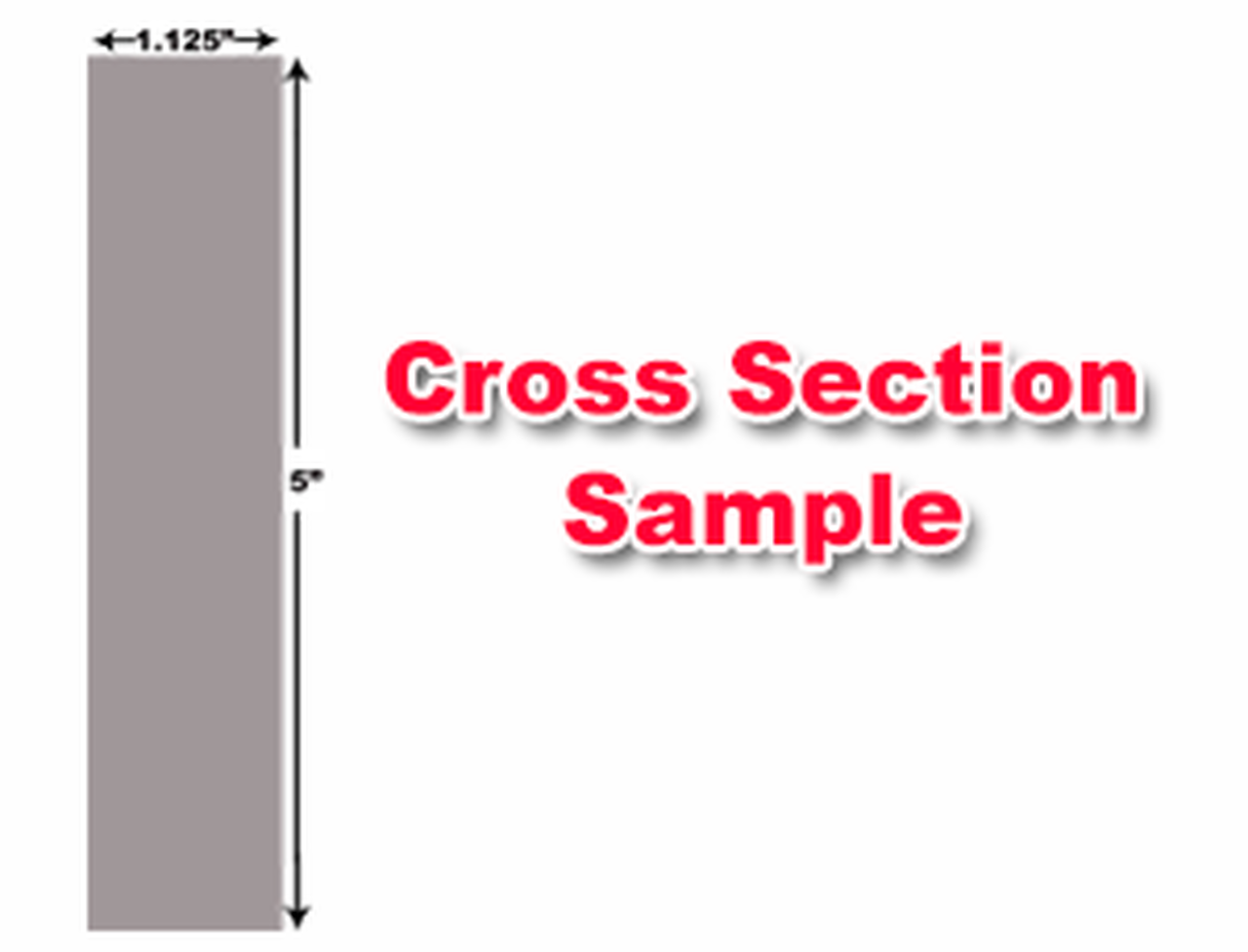 "Cincinnati Shear Knives - 124"" Length, 5"" x 1.125"" Cross Section (239243) Type C"