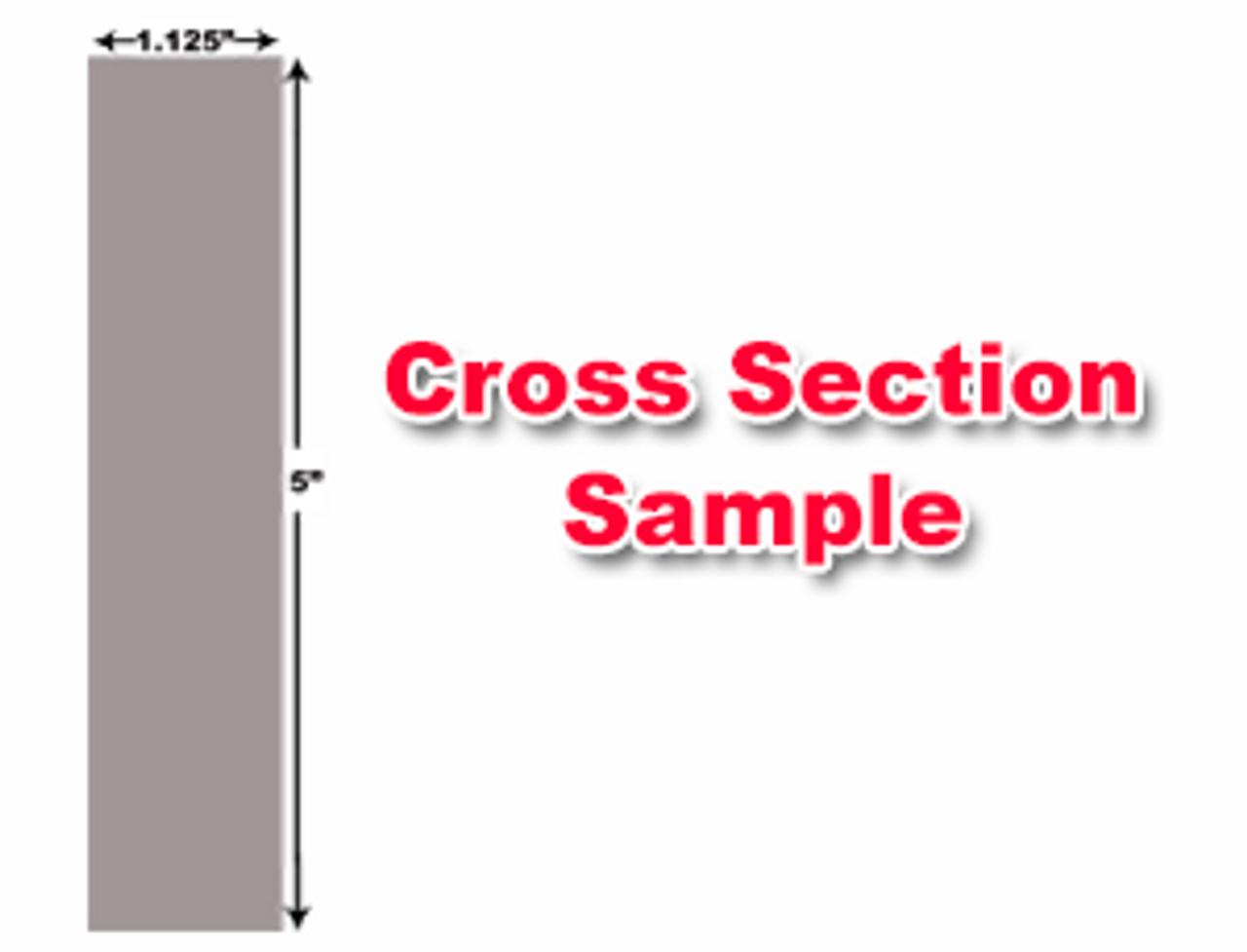 "Cincinnati Shear Knives - 124"" Length, 5"" x 1.125"" Cross Section (239331) Type D"