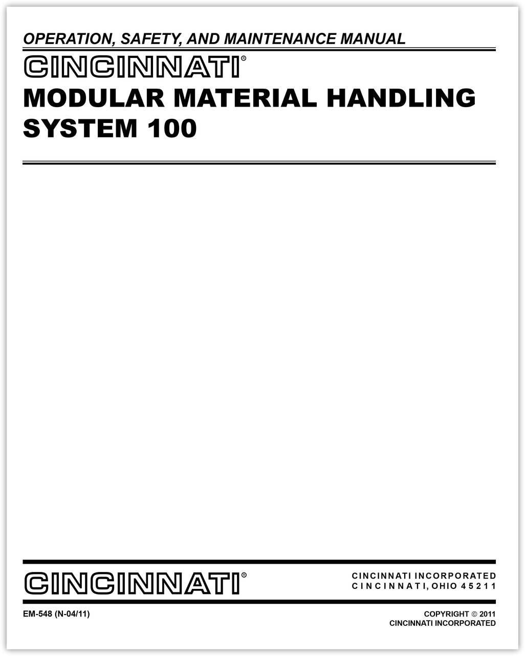EM-548: N-0411_MMHS-100 Operation Safety Maintenance Manual