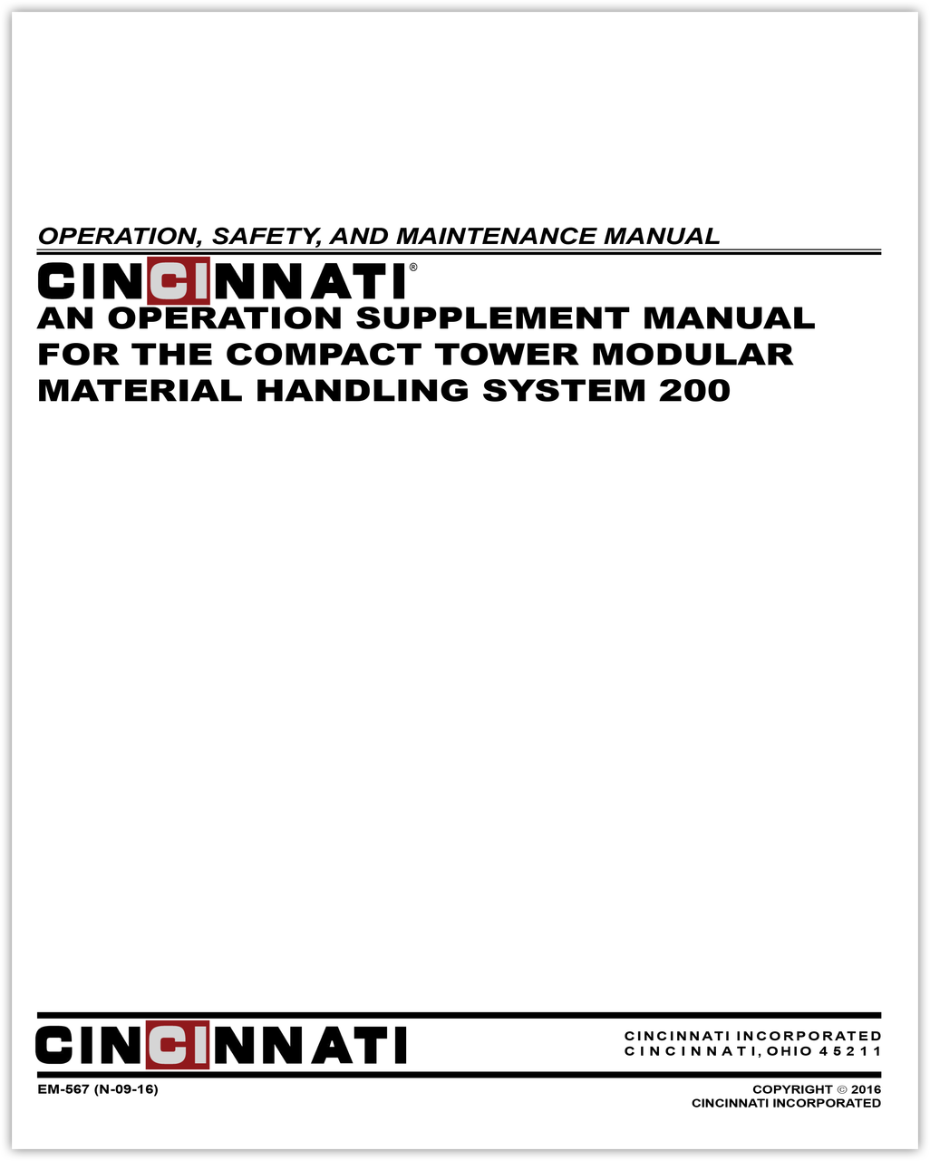 EM-567 (N-09-16) MMHS 200 Compact Tower Operation Supplement