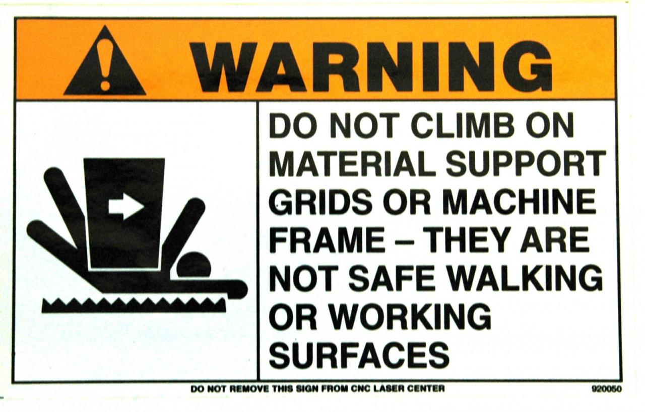 Safety Sign: Laser (Load Frame) - Warning (English)