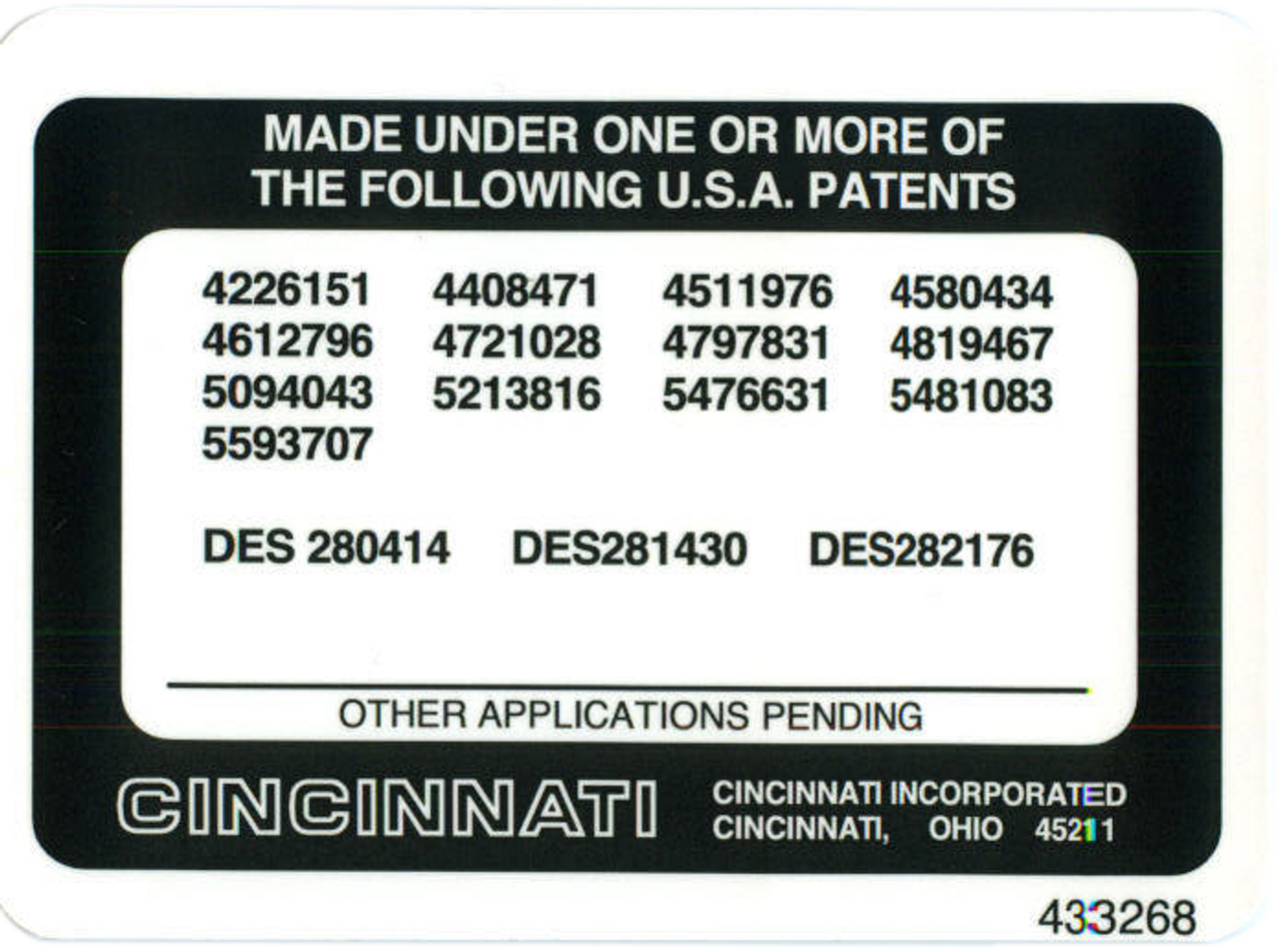 Patents 433268