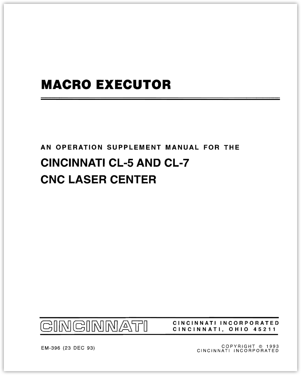 EM-396 CL-5_7 Macro Executor