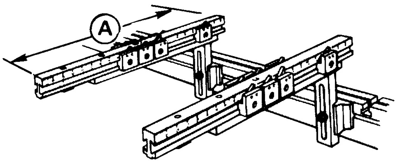 Heavy Duty Work Support Brackets with Double Dovetail Gage Arms (Auto Crown)