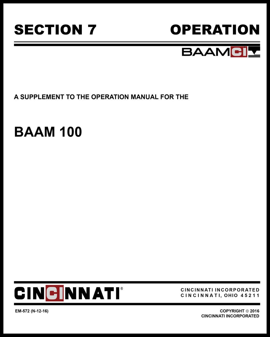 EM-572 (N-12-16) BAAM 100_Section 7_Supplement Manual