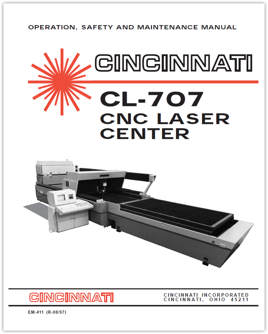 EM-411 (R-08-97) CL-707 Laser Center Operation, Safety and Maintenance Manual
