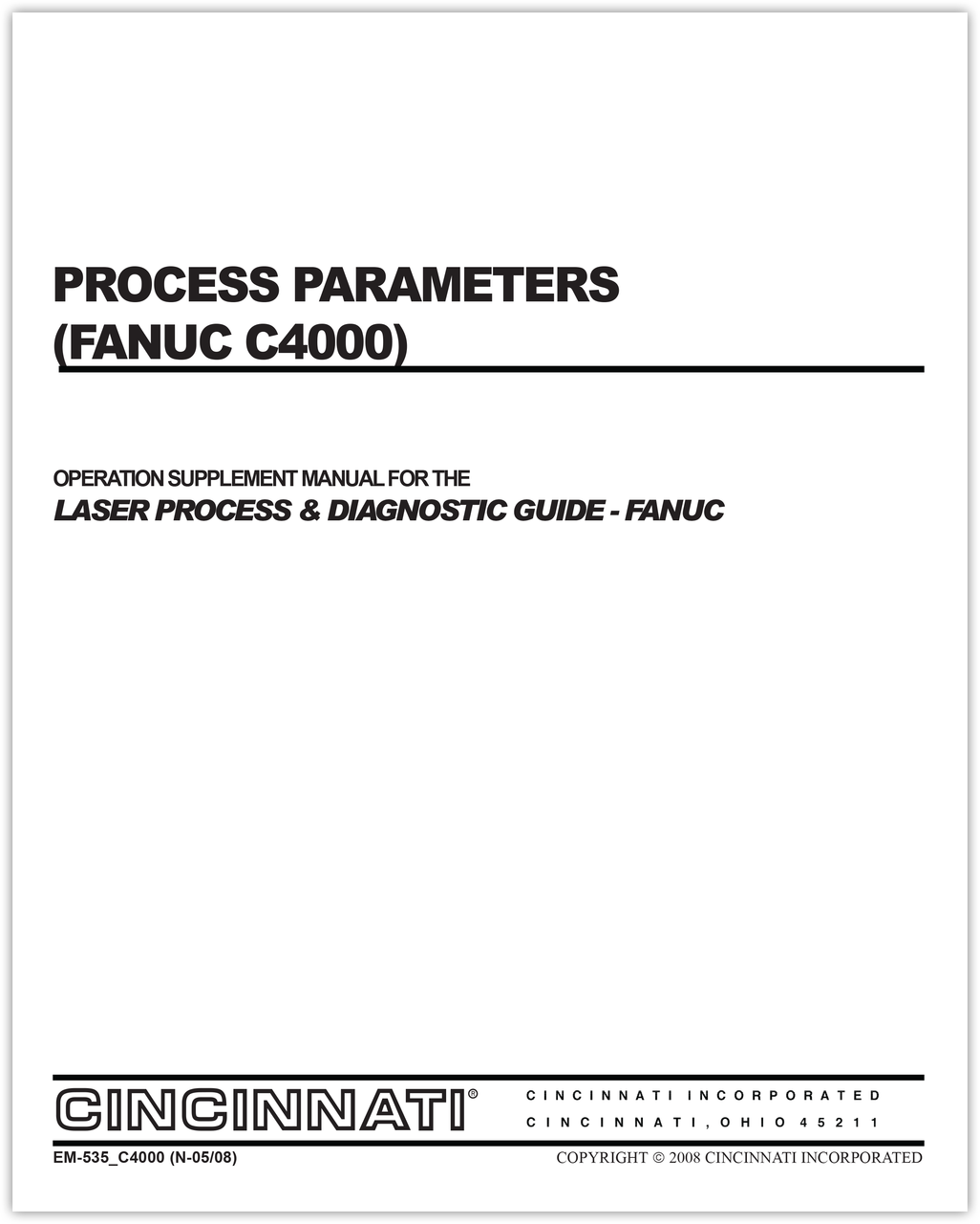 EM-535_C4000(N-05-08) Process Parameters (Fanuc C4000)