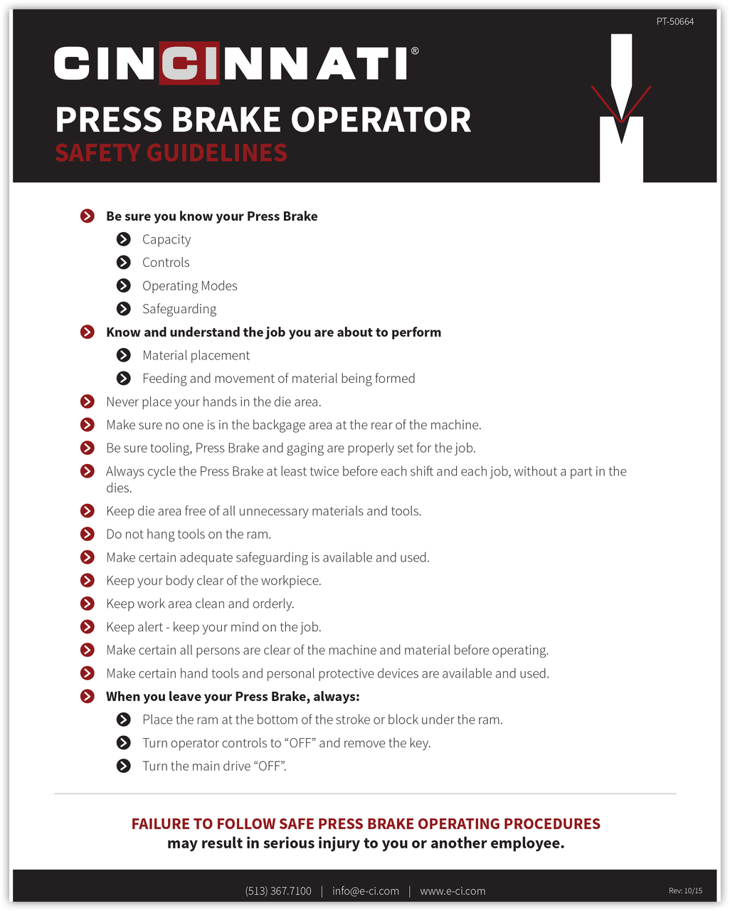 PT-50664_Press Brake Safety Guidelines