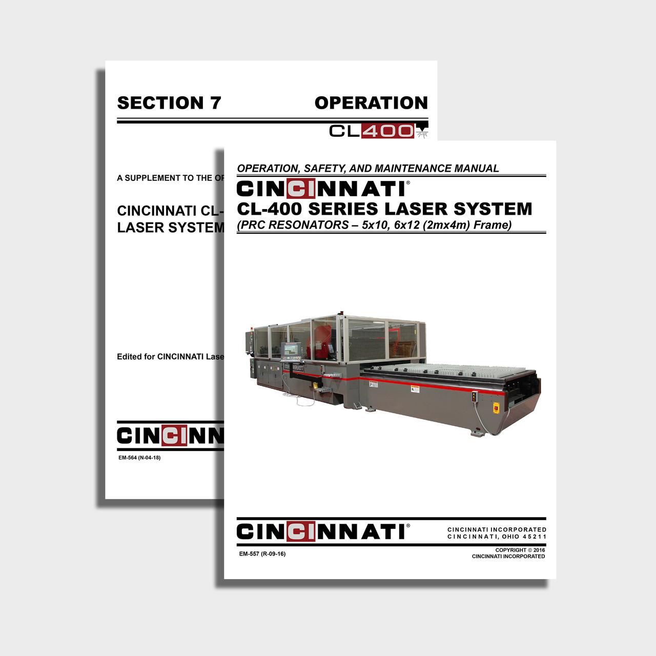 CL-400 CNC Laser Center Manual Bundle