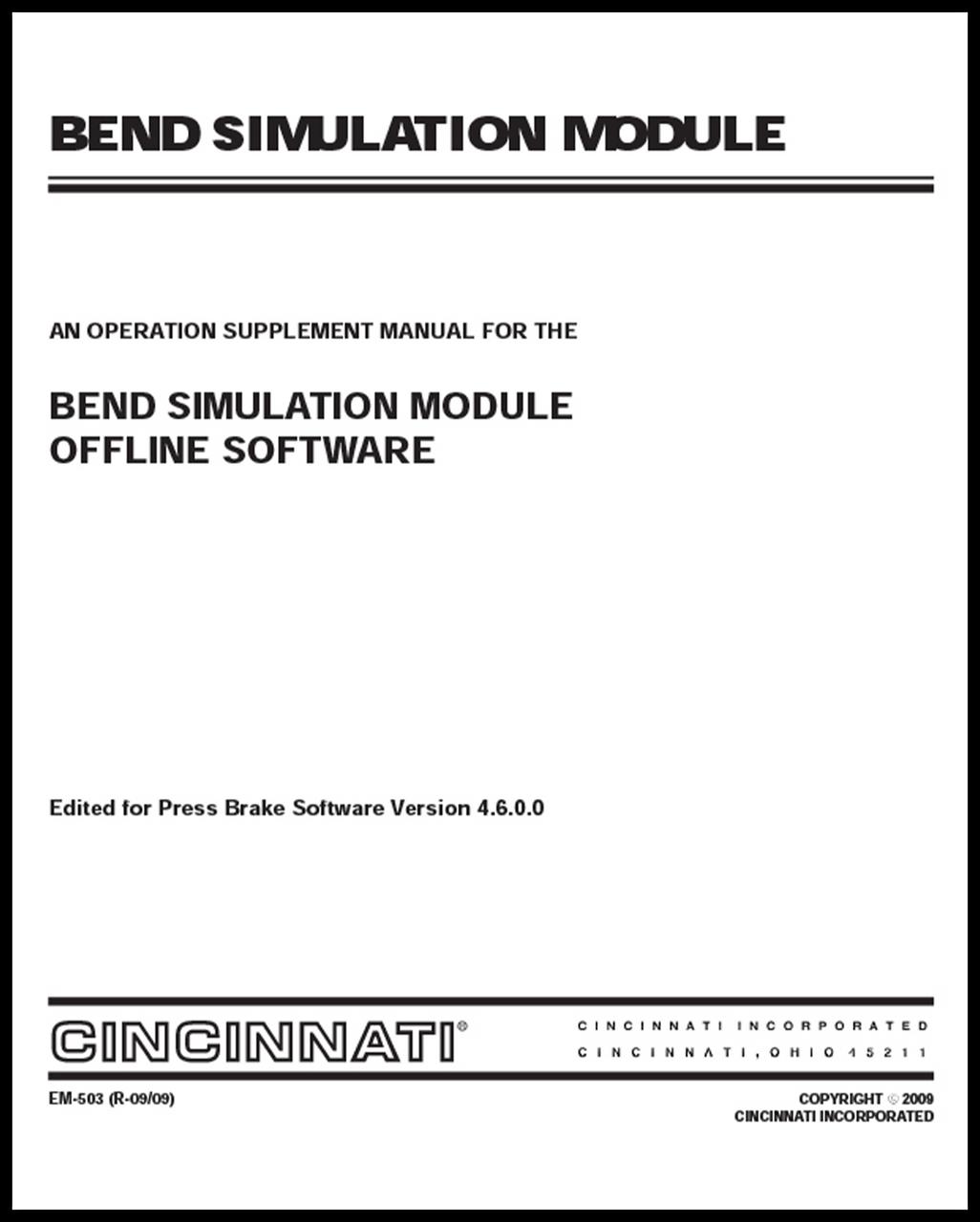 EM-503 Bend Simulation Offline Software (M,N,P,R,S,T,U,V)