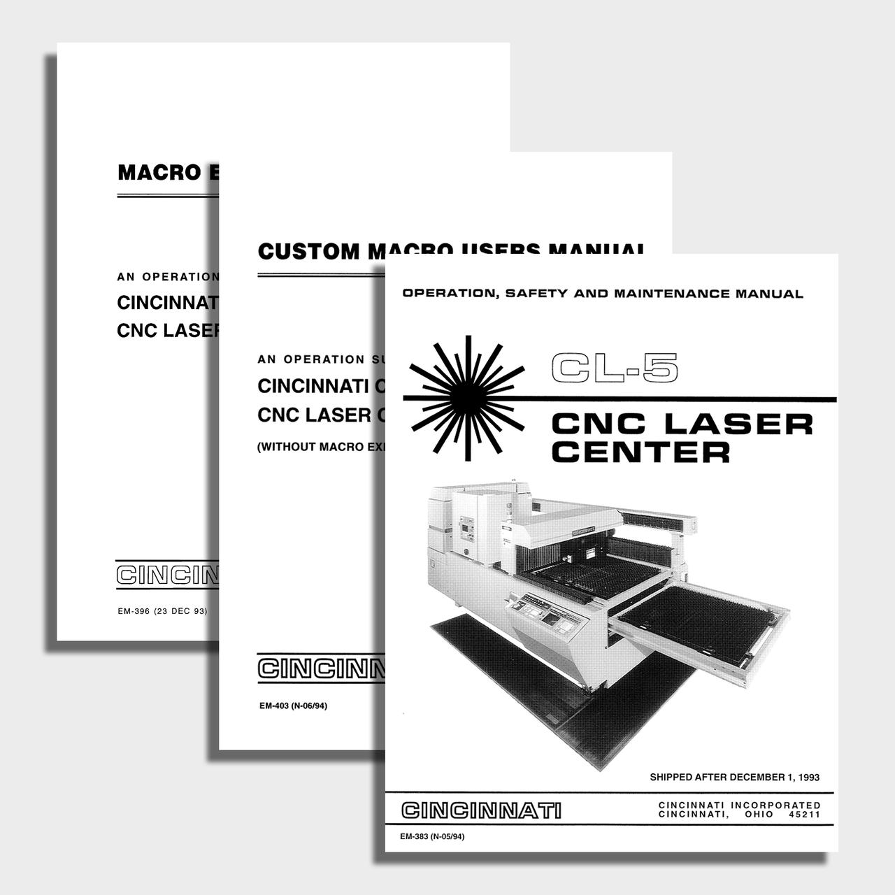 CL5 CNC Laser Center Manual Bundle