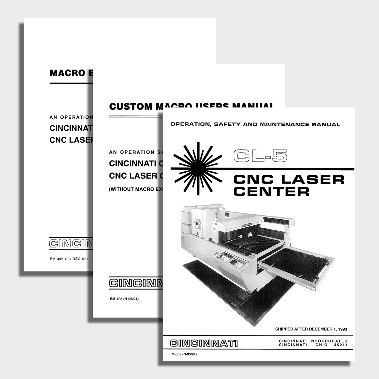 CL5 CNC Laser Center Manual Bundle