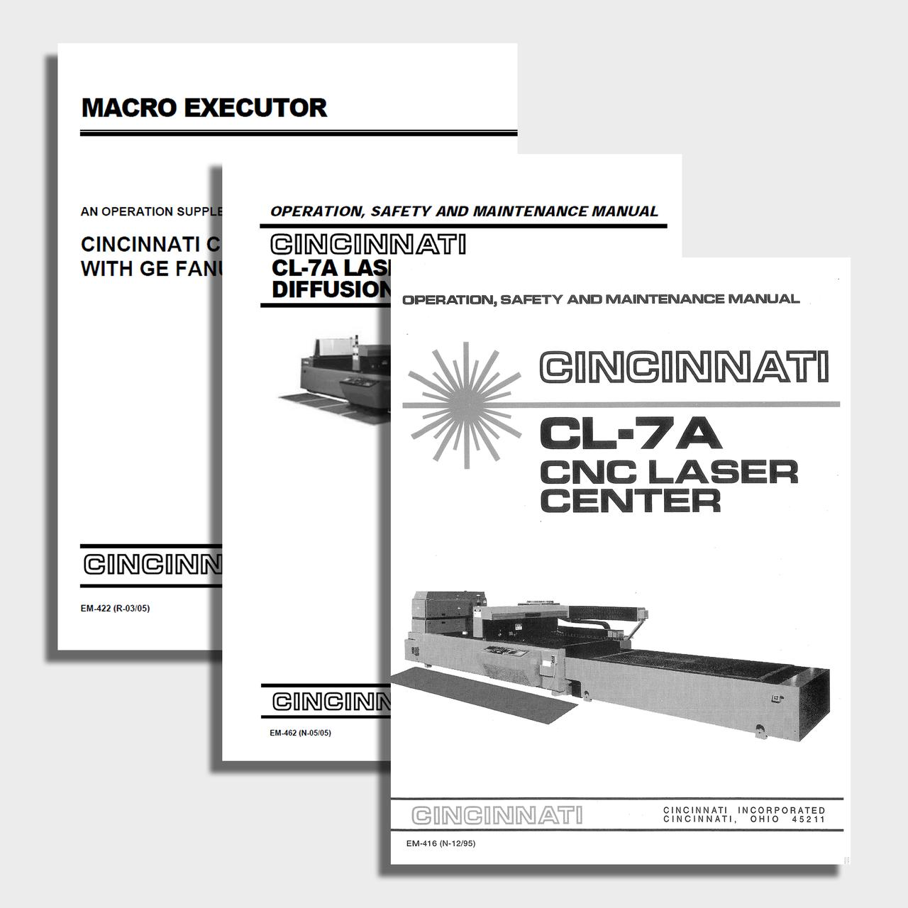CL-7A CNC Laser Center Manual Bundle