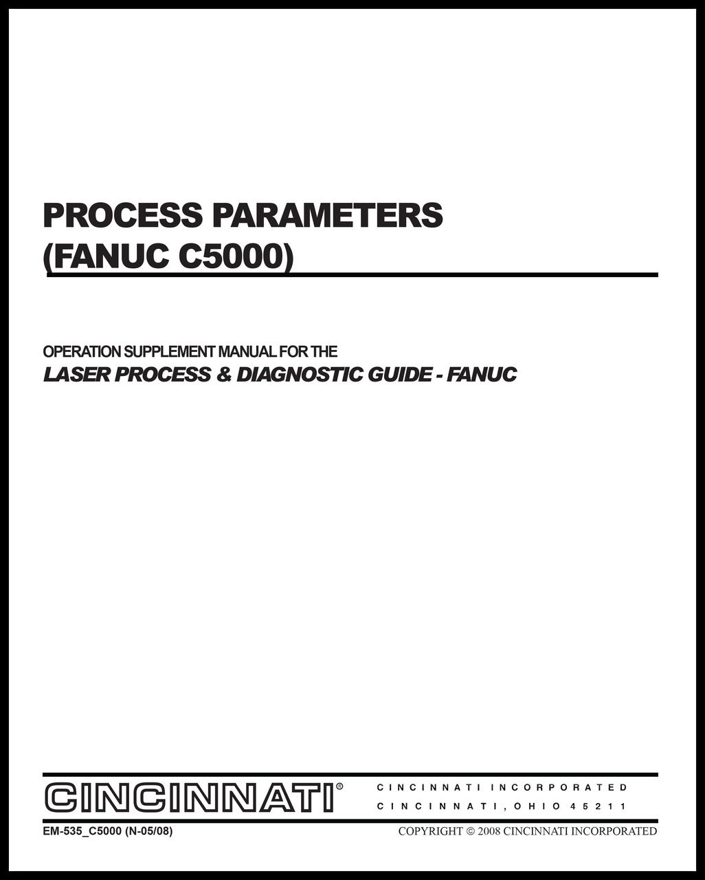 EM-535_C5000(N-05-08) Process Parameters (Fanuc C5000)