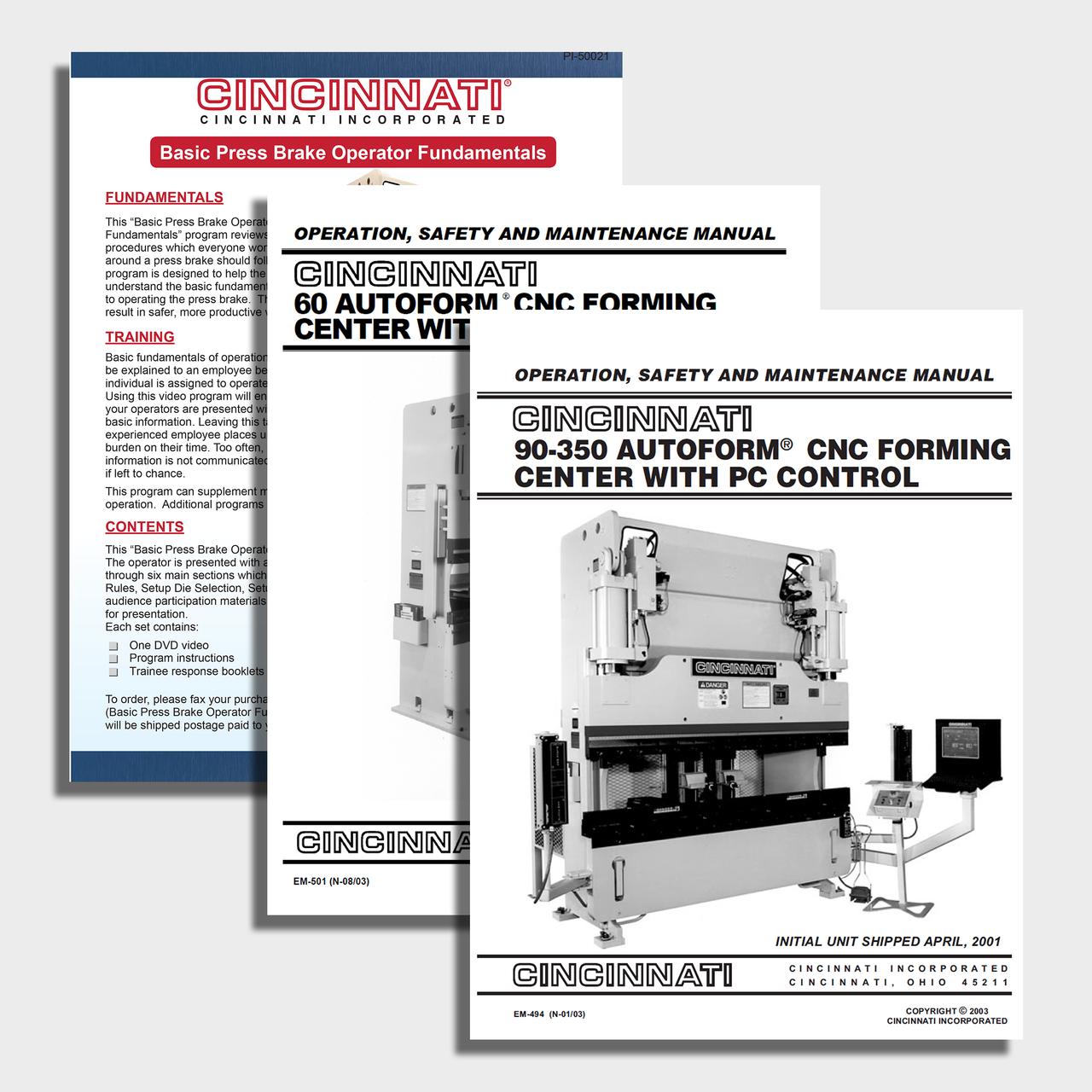 Autoform +  CNC Press Brake Manual Bundle