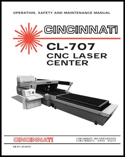 EM-411 (R-08-97) CL-707 Laser Center Operation, Safety and Maintenance Manual