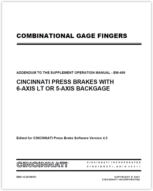 EMA-12 (N-09-07) COMBINATIONAL GAGE FINGERS