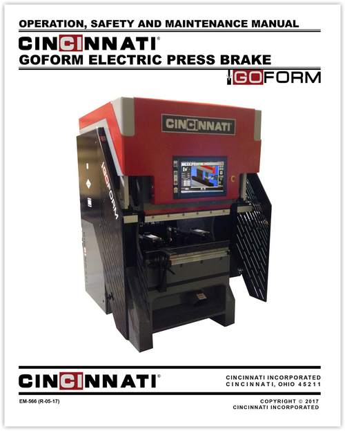 EM-566 (R-05-17) GOFORM Electric Press Brake_Operation, Safety and Maintenance Manual
