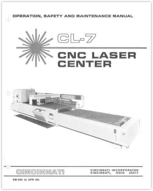 EM-355 (N-4-92) CL-7 CNC Laser Center OSMM