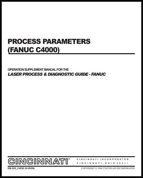 EM-535_C4000(N-05-08) Process Parameters (Fanuc C4000)