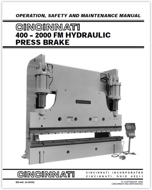 Cincinnati machine owner's manuals