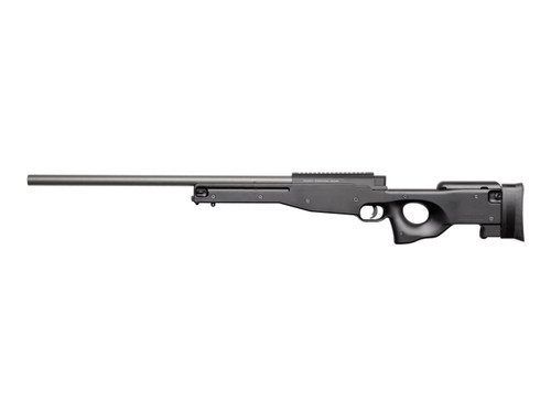 The ASG AW 308 Sniper Rifle shoots 450 fps with a .2g BB out of the box!
