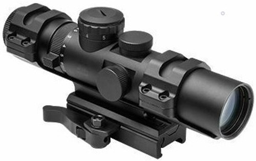 The NC Star XRS Scope gives you adjustable magnification between 2 and 7 times zoom