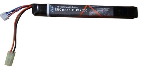 11.1v 1500 mAh Stick Lipo Airsoft Battery