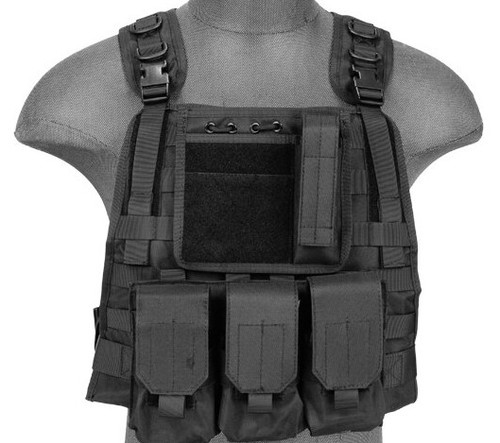 Lancer Tactical Plate Carrier Black