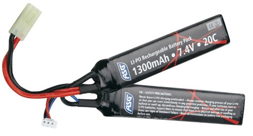 ASG 7.4v 2 Panel Lipo Airsoft Battery