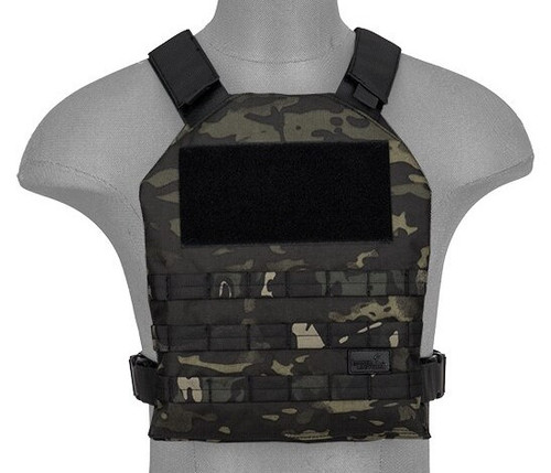Lancer Tactical SI Minimalist Airsoft Plate Carrier Black Camo