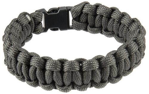 Lancer Tactical Airsoft Paracord Survival Bracelet, Assorted Colors Grey