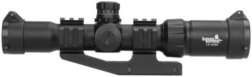 Lancer Tactical 1.5-4x30 Short Dot Illuminated Scope Left