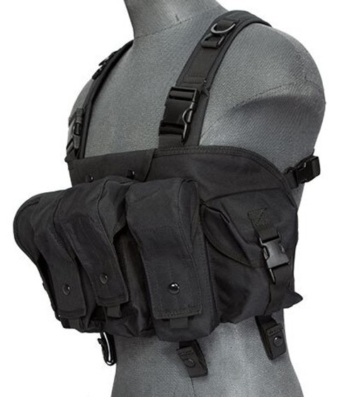 Lancer Tactical Airsoft Commando Chest Rig Black