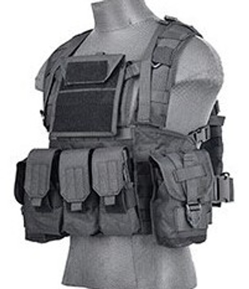 Lancer Tactical Airsoft Recon Vest Deployment Kit Black