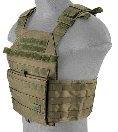 Lancer Tactical Recon Assault Plate Carrier OD