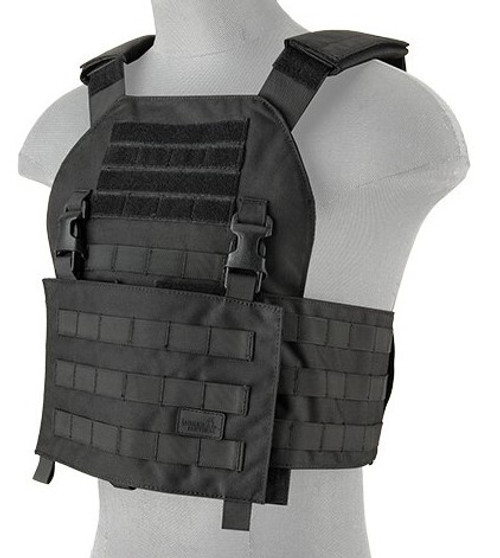 Lancer Tactical Airsoft Assault Plate Carrier Black