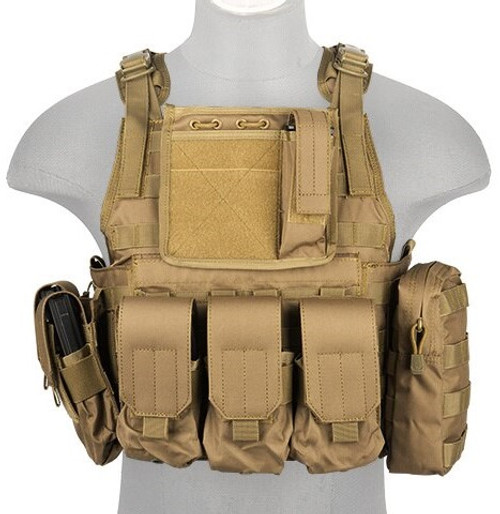 Defcon CCR Airsoft Plate Carrier Tan