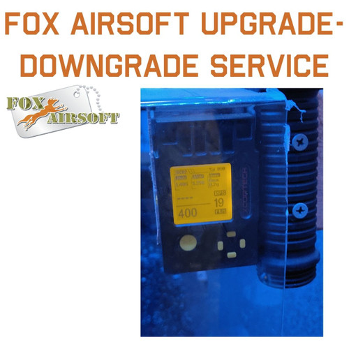 Fox Airsoft AEG Velocity Upgrade/Downgrade Service 380-400