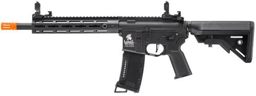 "Lancer Tactical M4 M-LOK 10"" Gen 3 Airsoft Gun Black Left Angle"