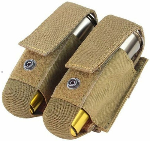 Condor Double 40mm Grenade Pouch - Tan