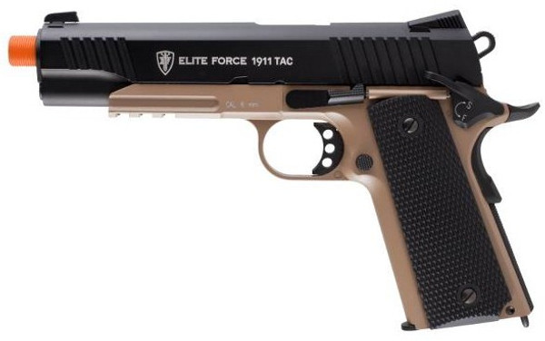 Elite Force 1911 Tactical, attach lights and lasers to the rails!