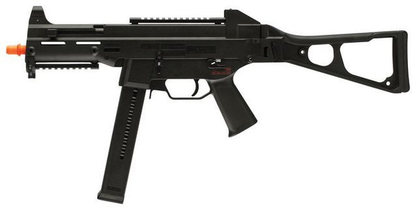 The HK UMP Competition Series AEG features a side folding stock and picatinny rails.