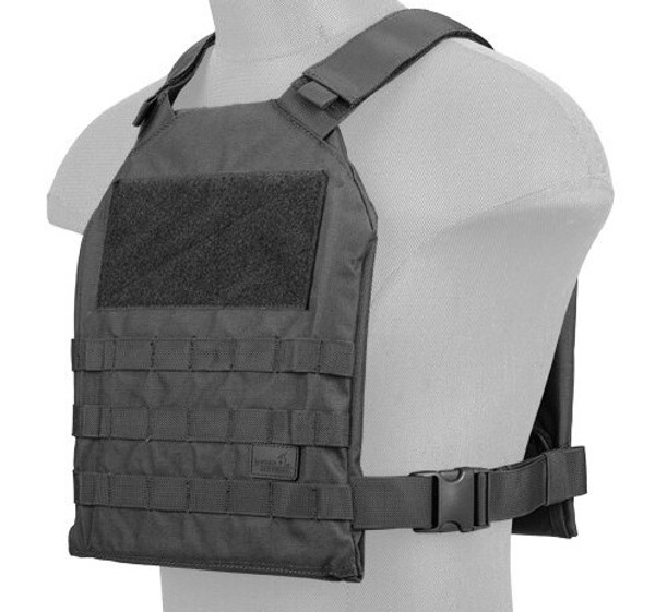Lancer Tactical SI Minimalist Airsoft Plate Carrier Black
